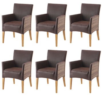 esszimmer gruppe 6x sessel alcantara leder loom neu ebay. Black Bedroom Furniture Sets. Home Design Ideas