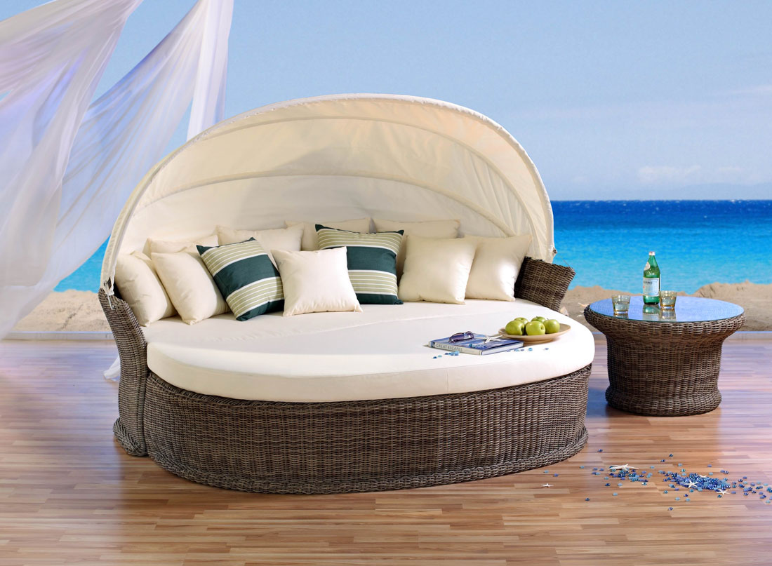 venus lounge cubu cream liegeinsel sonneninsel domus ventures lounge polyrattan ebay. Black Bedroom Furniture Sets. Home Design Ideas