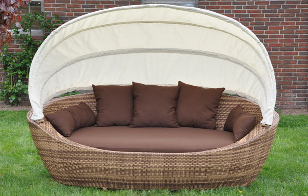 strandkorb sonneninsel liegeinsel sofa lounge garten ebay. Black Bedroom Furniture Sets. Home Design Ideas