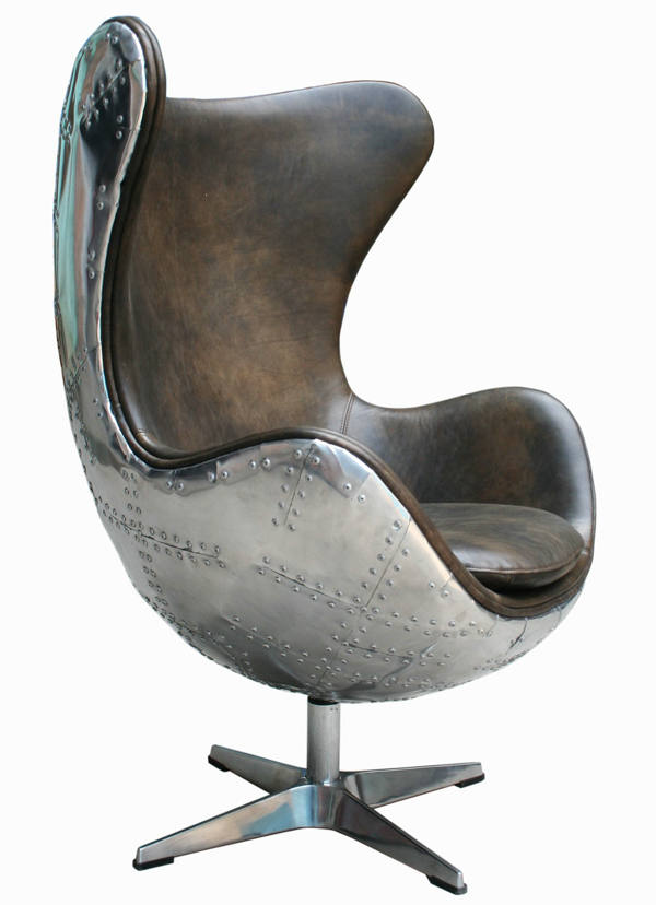 egg retro club ledersessel agent chair clubsessel leder sessel design vintage ebay. Black Bedroom Furniture Sets. Home Design Ideas