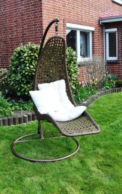 h ngeschaukel banane sonnenliege liege garten relax gartenliege schwenkliege ebay. Black Bedroom Furniture Sets. Home Design Ideas