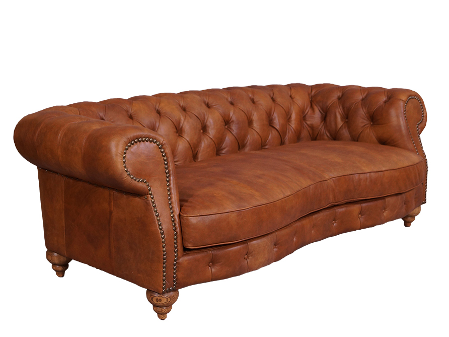 castlefield sofa 3 sitzer chesterfield columbia brown. Black Bedroom Furniture Sets. Home Design Ideas