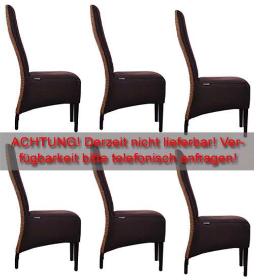 6x fine rattan loom stuhl esszimmer gruppe st hle neu ebay. Black Bedroom Furniture Sets. Home Design Ideas