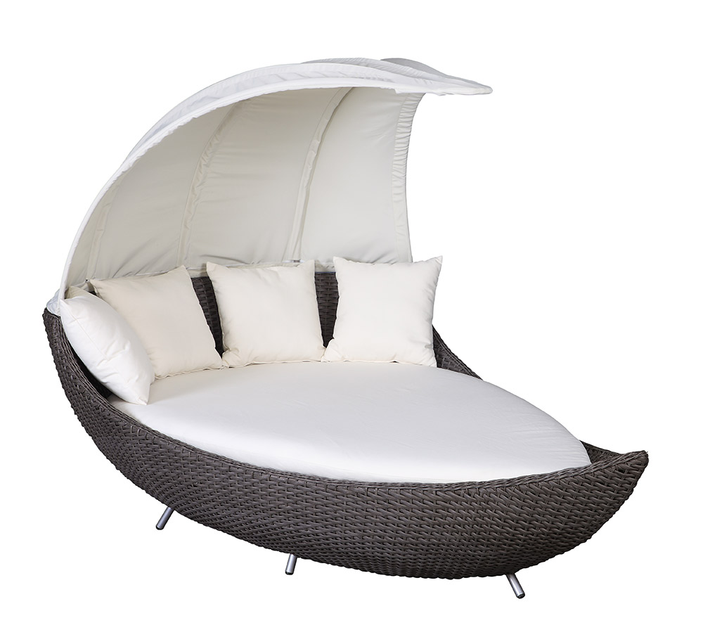crescent lounge liegeinsel domus ventures garten polyrattan liege sonneninsel cd ebay. Black Bedroom Furniture Sets. Home Design Ideas
