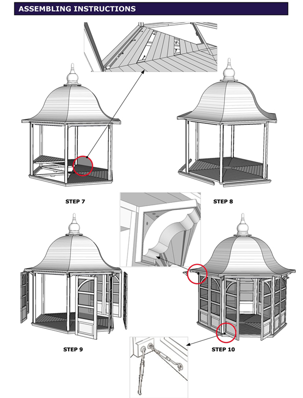 details zu gartenpavillon pavillon gazebo 3m rund. Black Bedroom Furniture Sets. Home Design Ideas