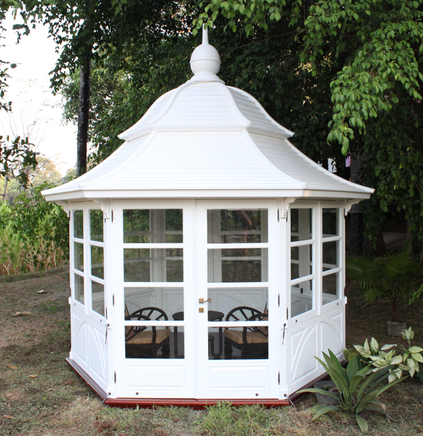 pavillon venedig garten pavillion wintergarten teak gartenhaus holz ebay. Black Bedroom Furniture Sets. Home Design Ideas