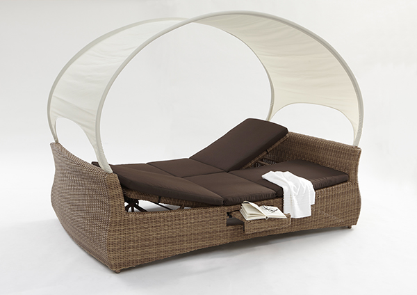 rantum sunbed liegeinsel liege sonneninsel domus ventures garten rattan mixed ebay. Black Bedroom Furniture Sets. Home Design Ideas