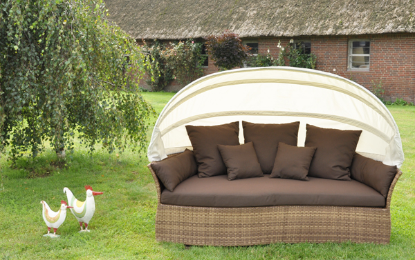 sonneninsel liegeinsel venus lounge garten insel relax ebay. Black Bedroom Furniture Sets. Home Design Ideas
